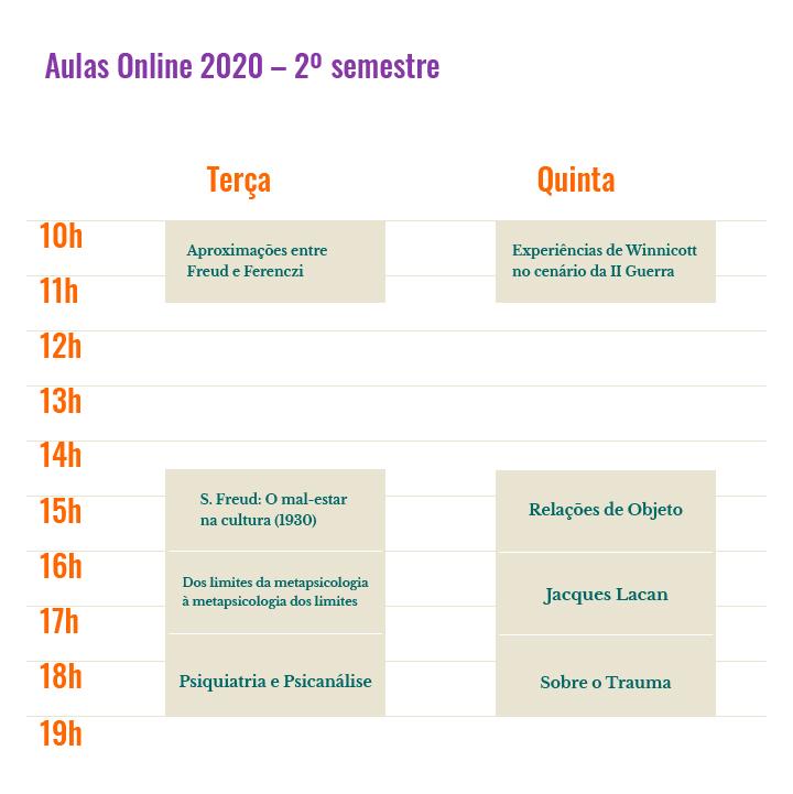 Aulas online - Psicanalise